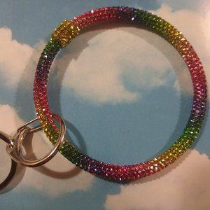 Urban  Rainbow Wristlet Key Chain